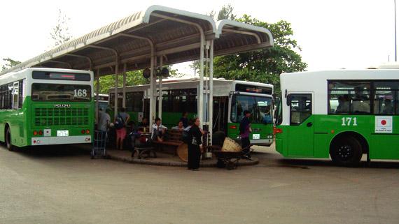 Autobus a Vientiane