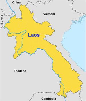 Tra Vietnam E Thailandia Cartina Geografica.Informazioni Geografiche Sul Laos Www Tuttolaos Com