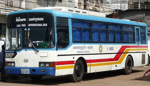 Autobus Laos-Thailandia