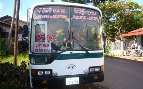 Autobus Laos-Vietnam