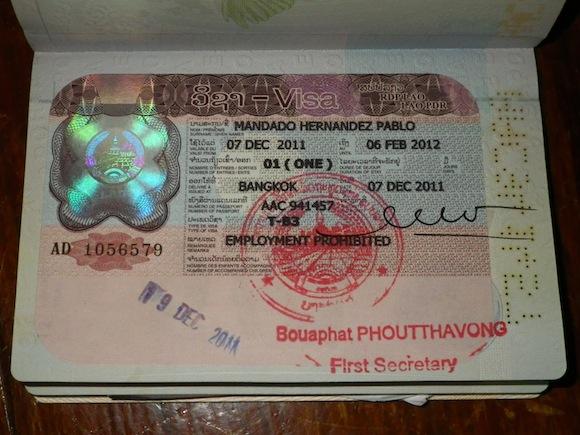 Tipi di visti per il Laos