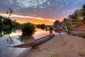 Sunrise on Don Det, 4000 Islands, Laos