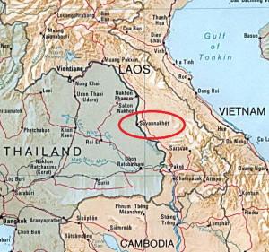 Posizione geografica Savannakhet tuttolaos