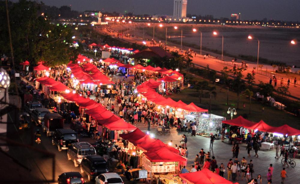 La capitale del Laos: Vientiane