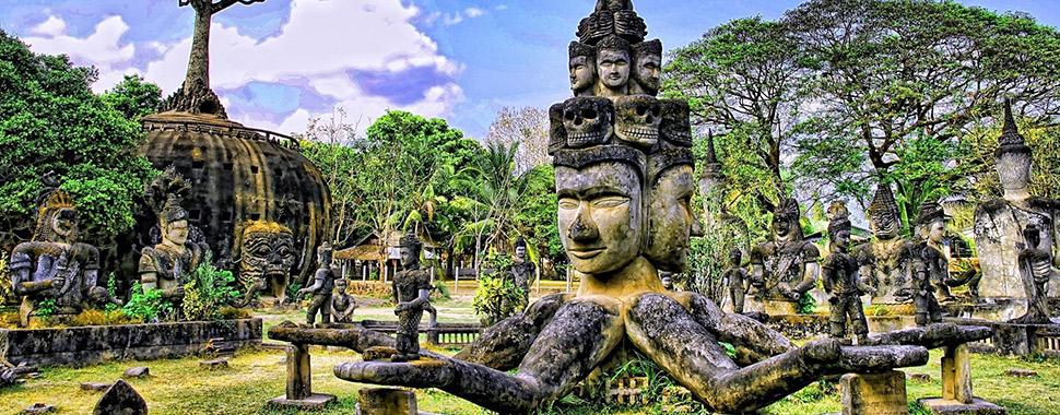 Laos Thailandia ed i Buddha Park